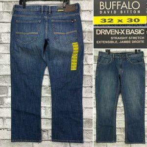 Buffalo Driven-X Sz 32 x 30 Straight Stretch Jeans